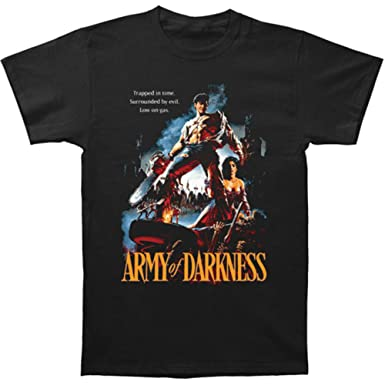 8ca18b40 Amazon.com: Army of Darkness Horror Comedy Movie Trapped in Time Adult  T-Shirt Tee: Clothing