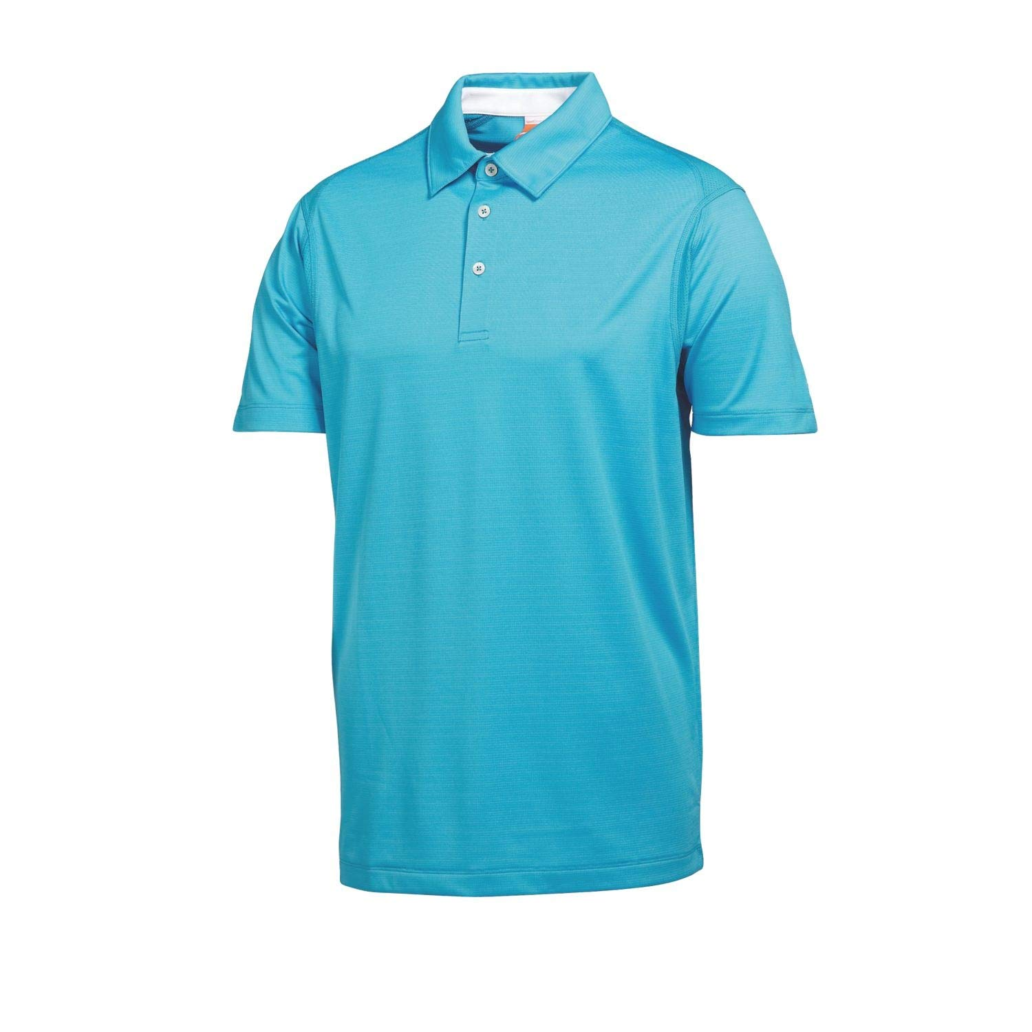 Puma Golf Boy's Tech Polo Tee, Vivid Blue, Small by PUMA