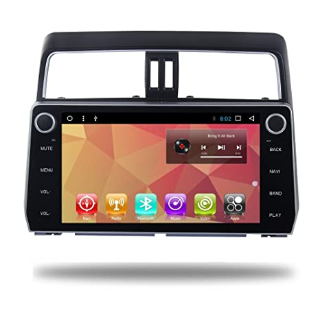 Android 7.1 Car Radio GPS 10.2 Inch Screen Navi for Toyota Prado 2018 Coche Video Stereo