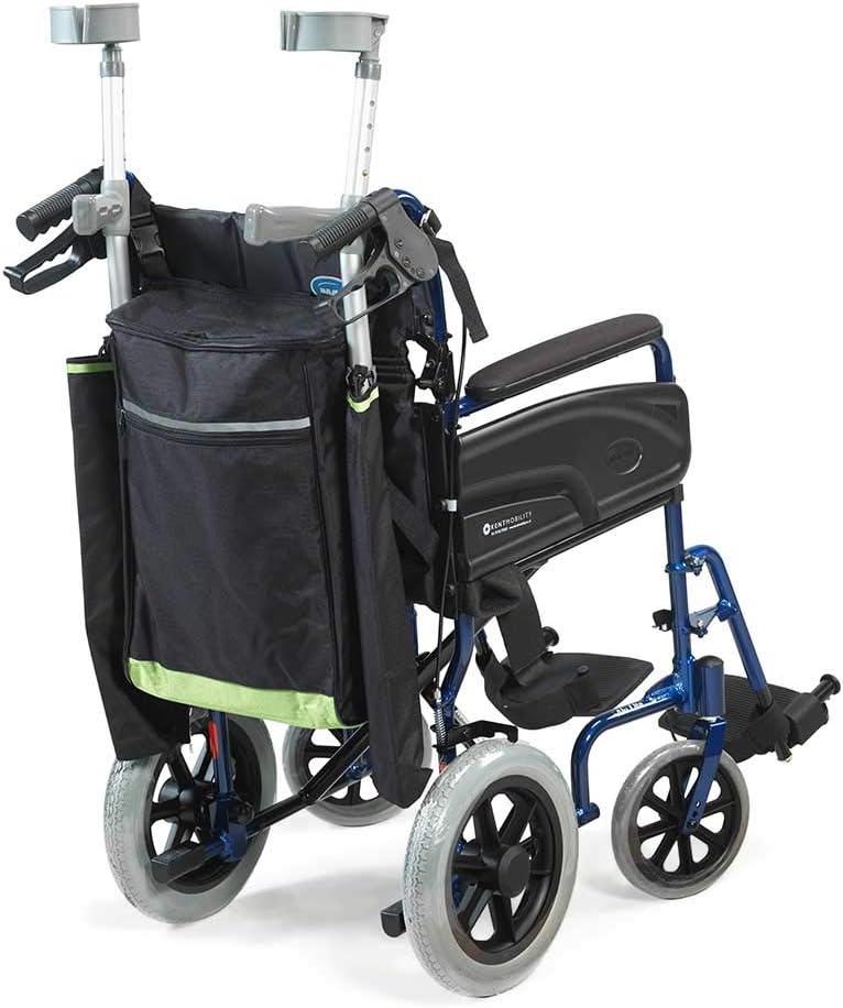 NRS Healthcare - Palo reflectante para silla de ruedas, color negro y verde