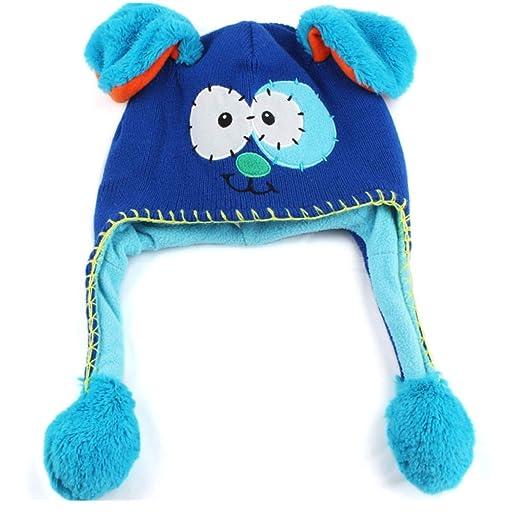 kaiCran Flipeez Hat -Boys Girls Monster Action Hat Children Winter Warm Hat  Cap (Blue ee0a81a83a93