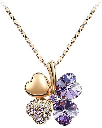 Swarovski elements crystal four leaf clover pendant necklace 19 swarovski elements crystal four leaf clover pendant necklace 19quot aloadofball Image collections