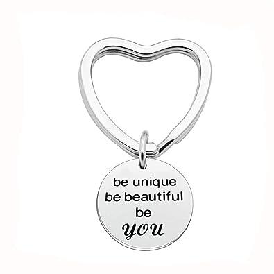 Aooaz llaveros Amigas Corazón Grabado be Beautiful be You ...