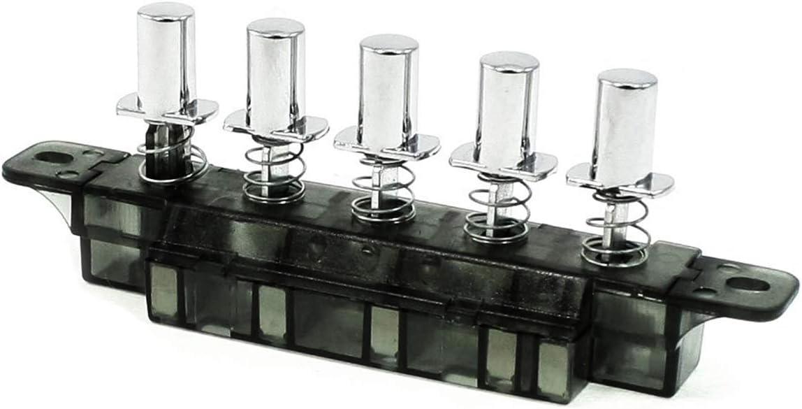 COMOK 1Pcs AC 250V 4 Amp 5 Pushbutton Piano Type Key Board Switch for Range Hood, 135mm Long
