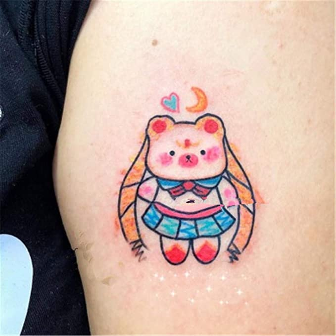 BARBEDINGROSE Etiqueta engomada del Tatuaje del Arte del Oso del ...