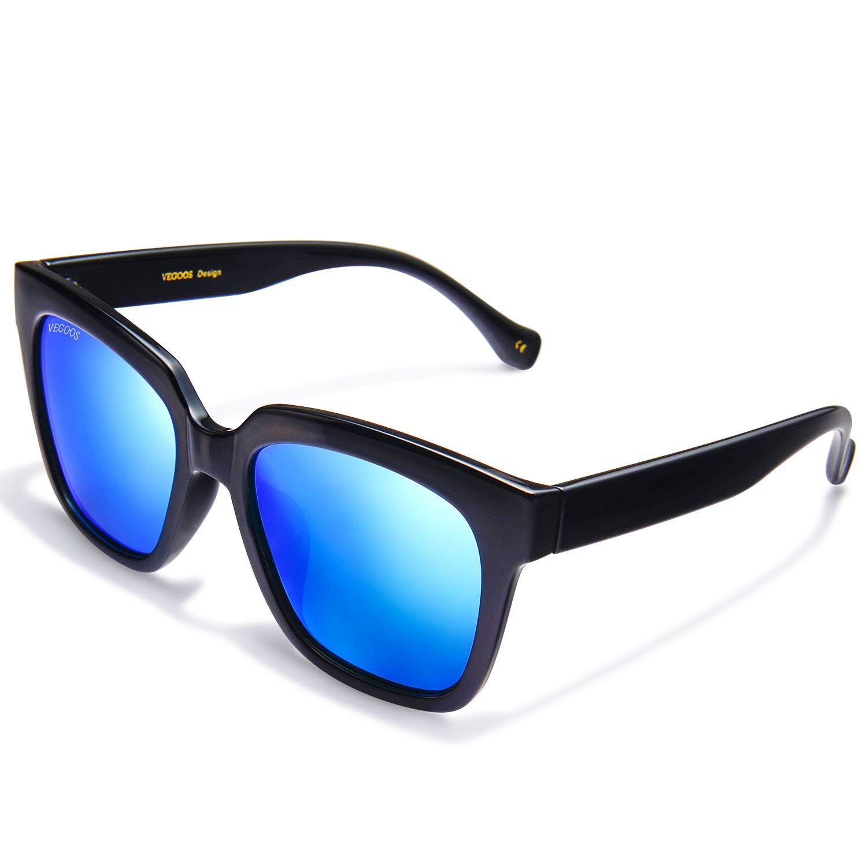 VEGOOS Gafas de sol Hombre Polarizadas Hawkers Clásico Retro Gafas de sol para Hombre UV400 Protection (Marco Negro/Lente Azul): Amazon.es: Ropa y ...