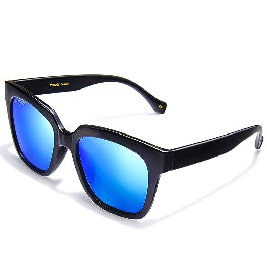 Amazon.com: VEGOOS Polarized Sunglasses for Men Square 52mm ...