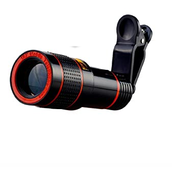 Luxury Line 12X Optical HD Cell Phone Camera Telephoto Lens with Universal Clip