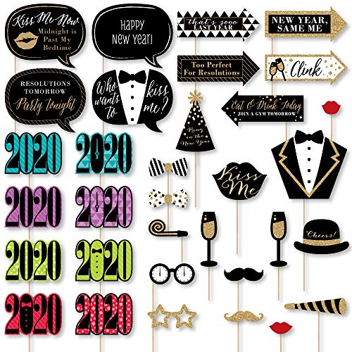 Big Dot of Happiness New Year's Eve - 2020 New Years Eve Party Supplies and Photo Booth Props Kit - 33 -