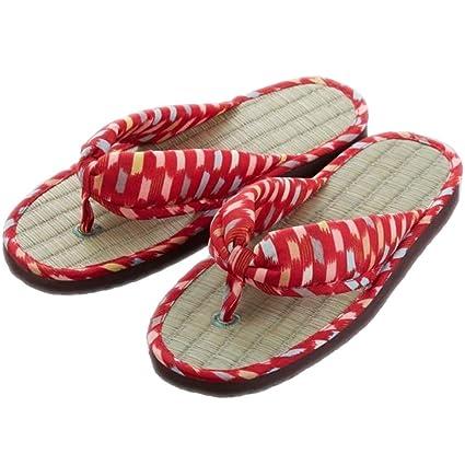 aef34054415e Comolife Japanese Tatami Rush Zori Flip Flops - Kimono Geisha Sandals Zori