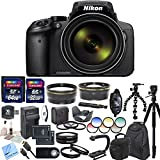 Nikon COOLPIX P900 Digital Camera with 83x Optical Zoom and Built-In Wi-Fi (Black) & CS Professional Package – International Version