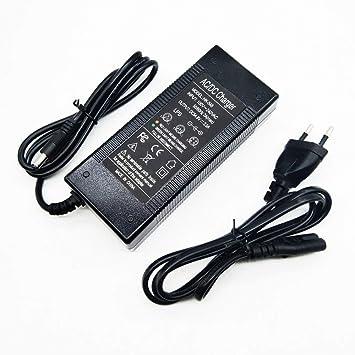 AMPERBIKE Cargador baterías de 48V (Salida 54.6V y 2A) 5.5mm ...