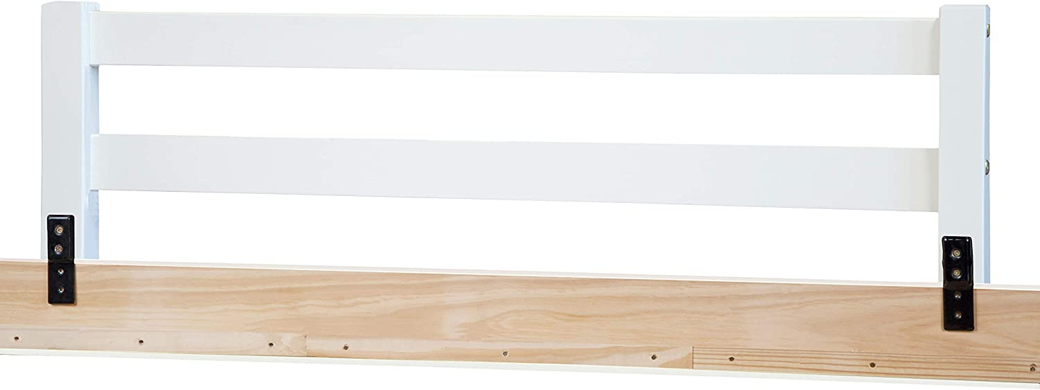 14.75H x 42.75W White Safety Rail Guard for Beds and Bunk Beds 1001 by Palace Imports 2x 2 Posts