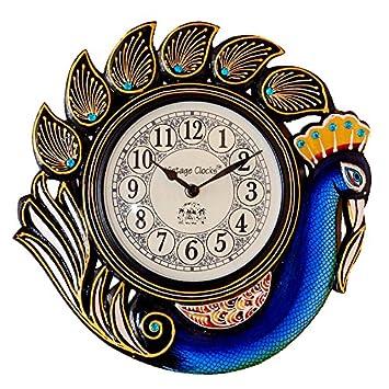 Buy Vintage Clock Handicraft Peacock Blue Wall Clock One Year