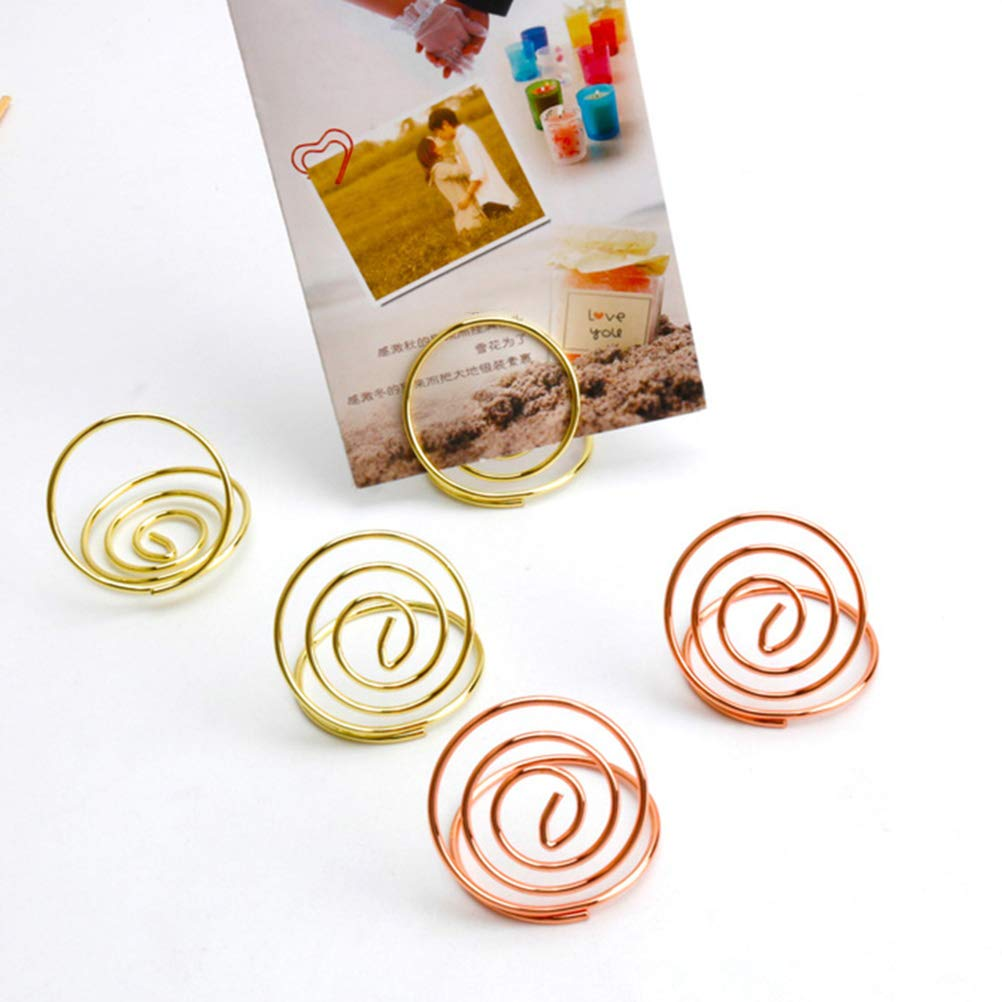 Office & School Supplies Beautiful 24 Pcs Table Number Holders Ring Shape Card Holder Circle Stereo Note Pad Menu Clips Clips