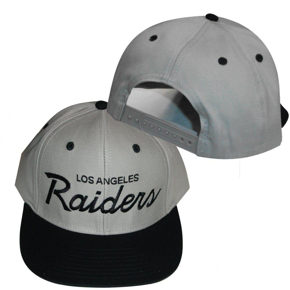 Los Angeles Raidersグレー/ブラックプラスチックスナップバック調節可能なプラスチックスナップバック帽子/キャップ   B004NMLNR0