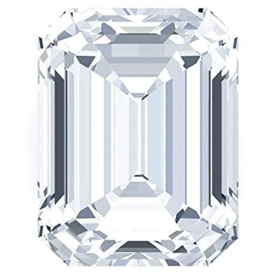 Amazon com: Fire & Brilliance Emerald FAB Colorless Moissanite Loose