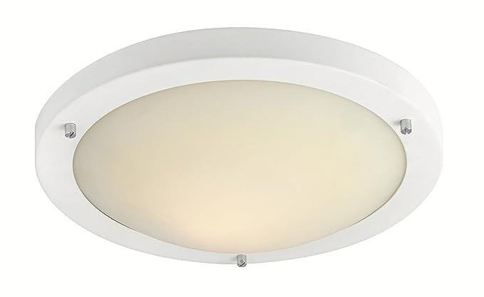 Firstlight - Plafón redondo de techo (funciona con 1 bombilla led de 11 W,