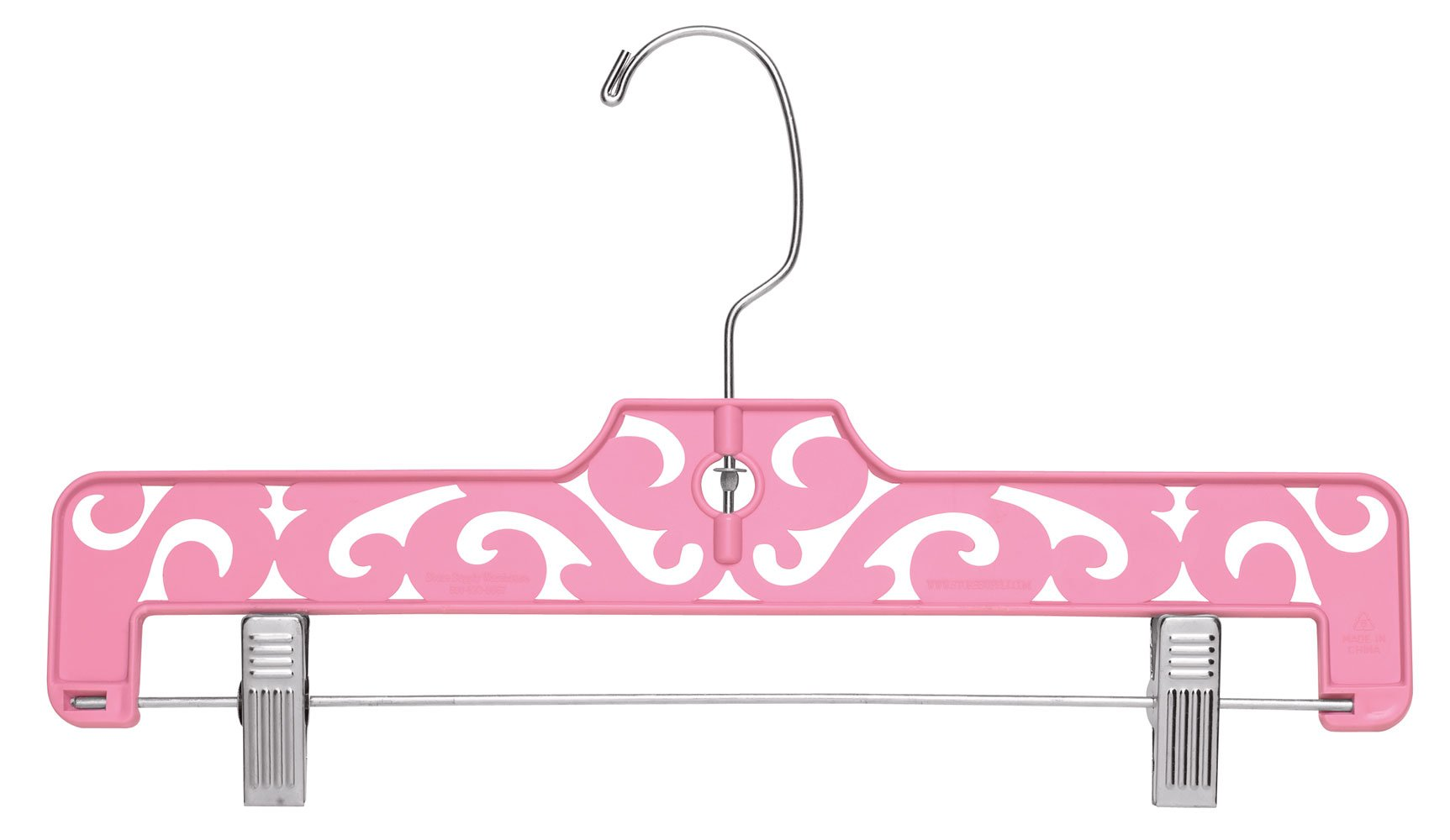 Boutique Pink Carved Plastic Pants Hangers - Pack of 50