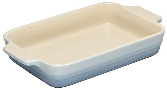 Le Creuset - Fuente rectangular de gres, 26 cm, color costal blue: Amazon.es: Hogar