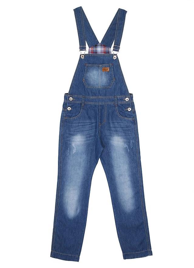 999ad274565 Children s Lightwash Denim Dungarees Boys Blue Slim Leg Overalls Age 6 8 10  12 KID048-Age 8  Amazon.co.uk  Clothing