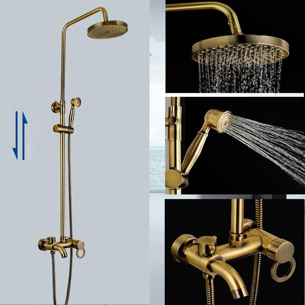 MDRW-Stylish shower faucetsThree antique brushed antique copper ...