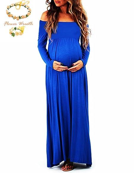 Long maternity maxi dresses