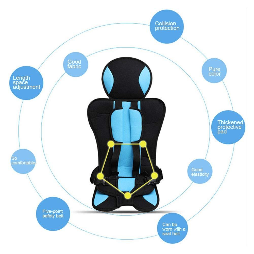 cintur/ón de seguridad ajustable con reposacabezas Bebliss Asiento de seguridad port/átil para ni/ños para ni/ños de 0-6 a/ños Accesorios para cojines de beb/é engrosamiento
