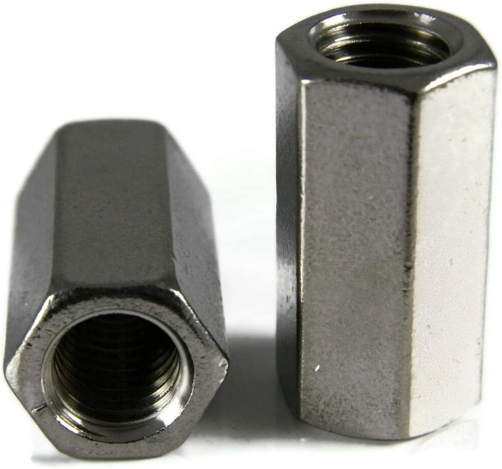 """3//4-10 X 1/"""" x 2 Stainless Steel Coupling Nuts Qty 1 Threaded Rod UNC"""