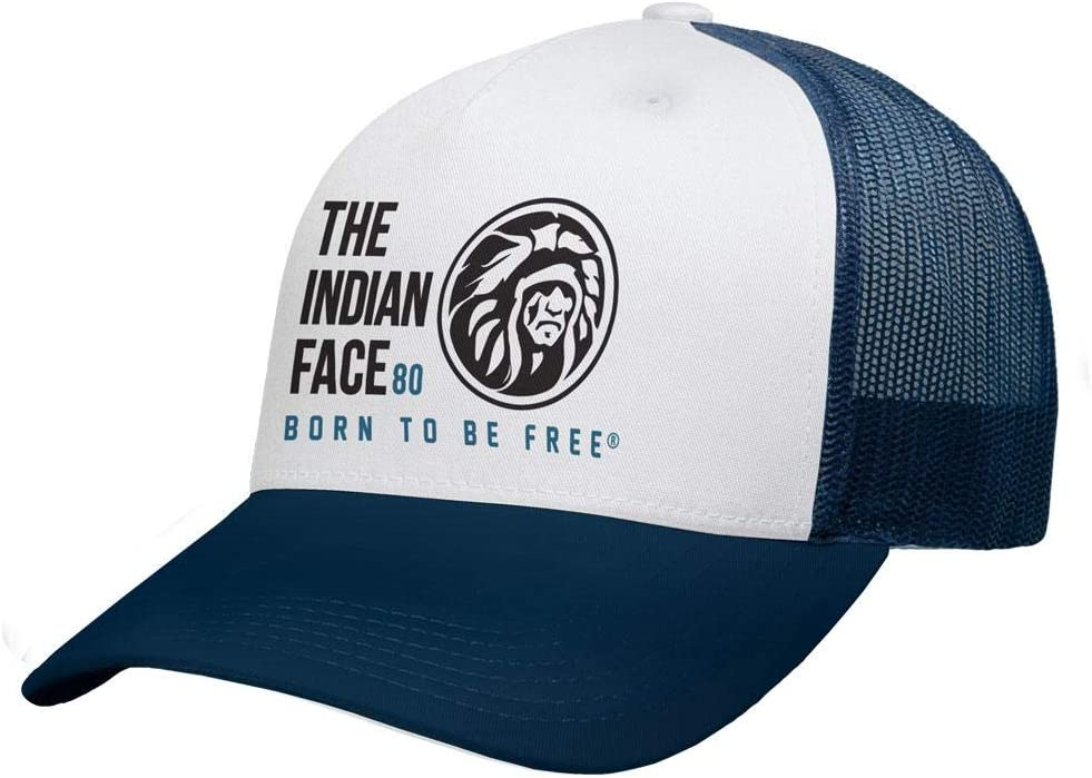 The Indian Face Free Soul Gorra, Adultos Unisex, Blanca y Azul ...