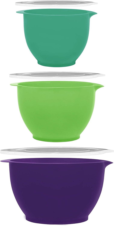 Gourmet Home Products Batter Bowls, 6-pc set, Purple