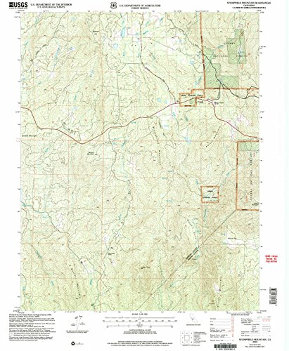 Stumpfield Mountain CA topo map, 1:24000 scale, 7.5 X 7.5 Minute, Historical, 2004, updated 2007, 26.8 x 22 IN - - Italian Hill Camp