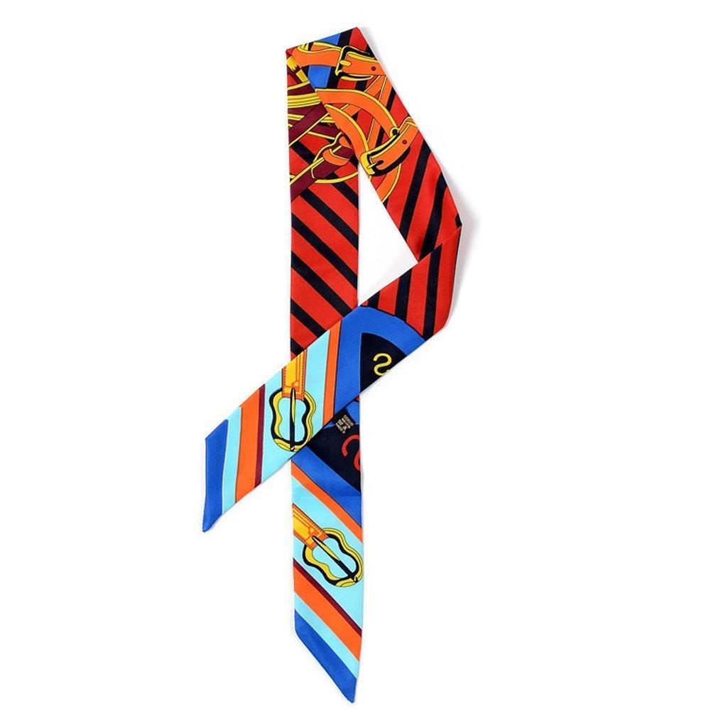 TININNA 1 piezas Belleza impresión colorida bufandas accesorio para el pelo hairband cinta de bolso ...