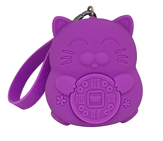 Rrock Lindo Kawaii Lucky Cat Monedero de Gran Capacidad ...