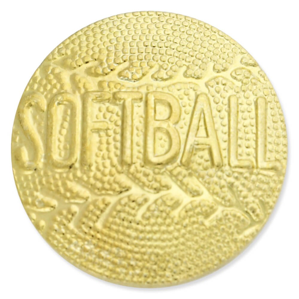 Softball Gold Chenille Sports Lapel Pin