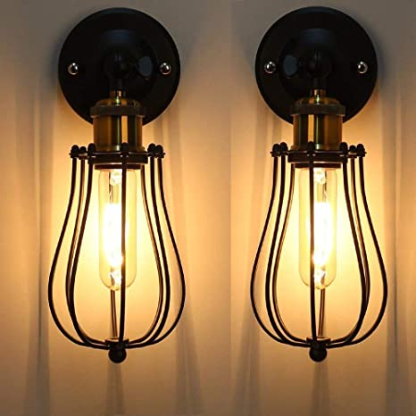 Lámpara de Pared Vintage Industrial Ajustable Metal E27 Base ...