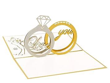Yidarton 3d tarjetas regalo aniversario de boda Tarjeta de ...