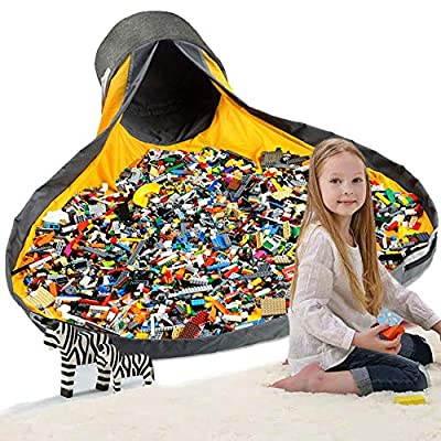 Hevdo Toy Storage Organizer Large Play Mat and Toy Storage Organizer Baskets for Blocks Large Portable Mat Up: Toys & Games