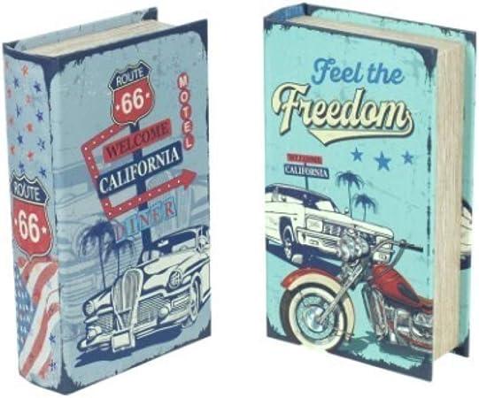Vidal Regalos Caja Forma de Libro x 2 Modelos 21x13 cm: Amazon.es: Hogar