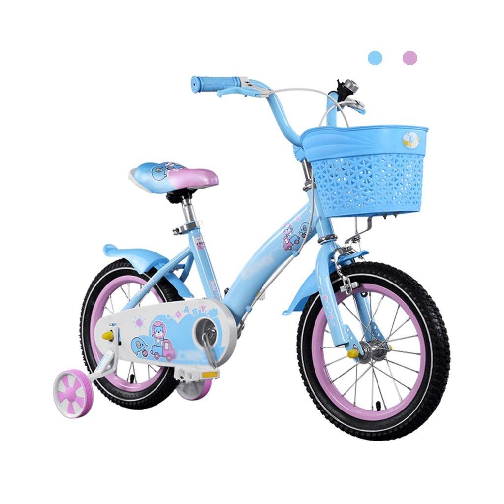 Gai Huaホーム子供用自転車ガールズペダル2 – 8歳の子供プリンセスBaby Stroller 80 – 140 CM高さCan Be Used B07DQMP3LX 14 inches|ブルー ブルー 14 inches