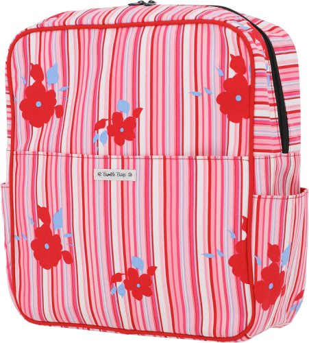 Bumble Bags Madeline Hanging Stroller Backpack Rosey Stripe