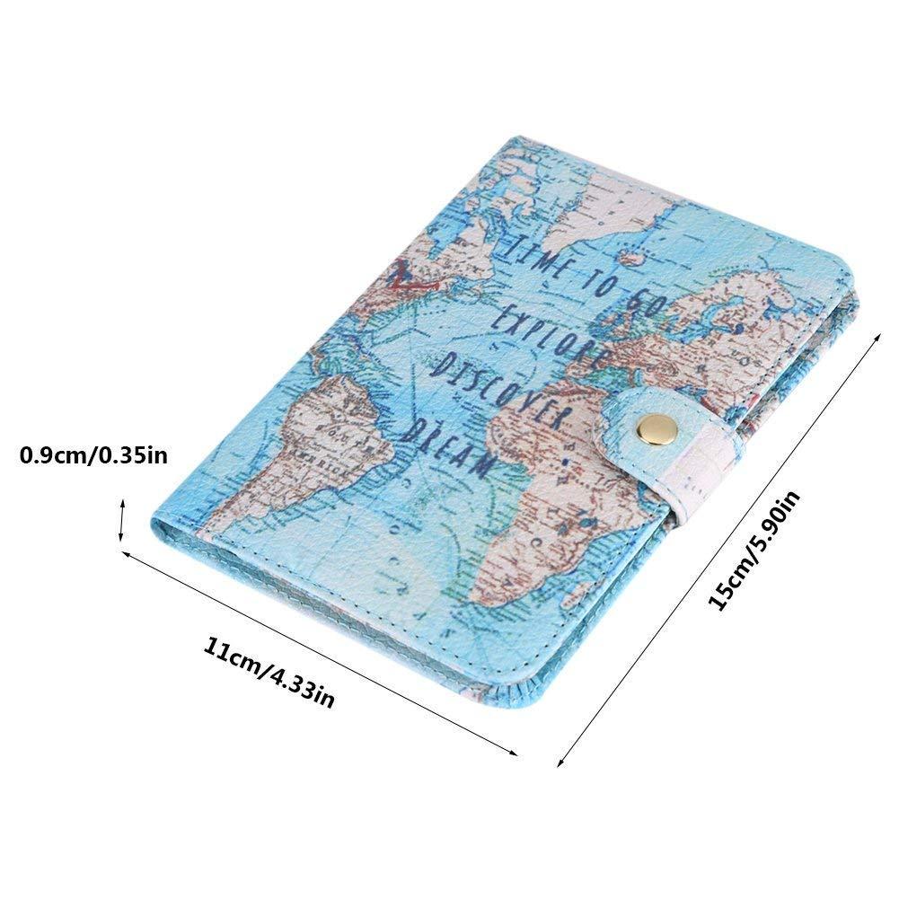 Fdit Titular del pasaporte cartera protectora Premium sintética funda de piel cartera de viaje para pasaporte caso bloqueo para viajes pasaportes ...