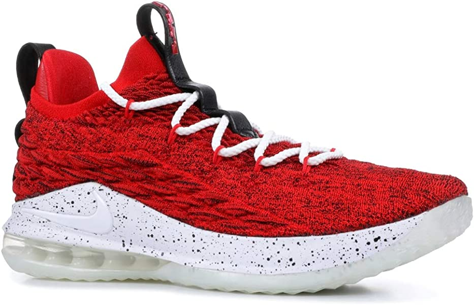 1f72cbbb305e Nike Lebron XV Low University Red White-Black 8 M US