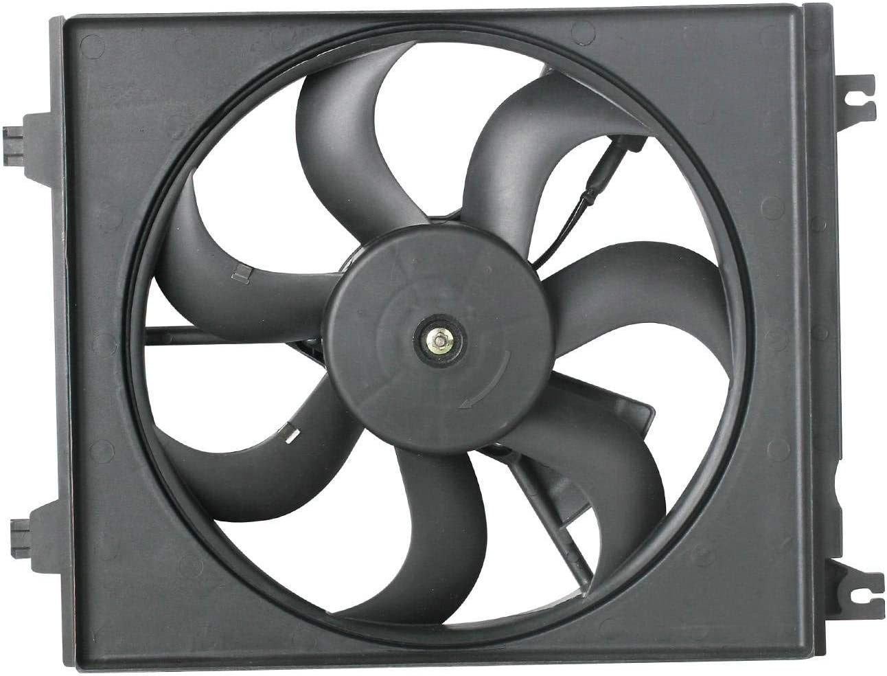 TOPAZ 97730-2F000 Passenger Side A/C Condenser Cooling Fan Assembly for Kia Spectra 2004-2009 2.0L