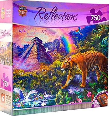 MasterPieces Reflections Foil Collection Clandestine Forest Jigsaw Puzzle, 750-Piece