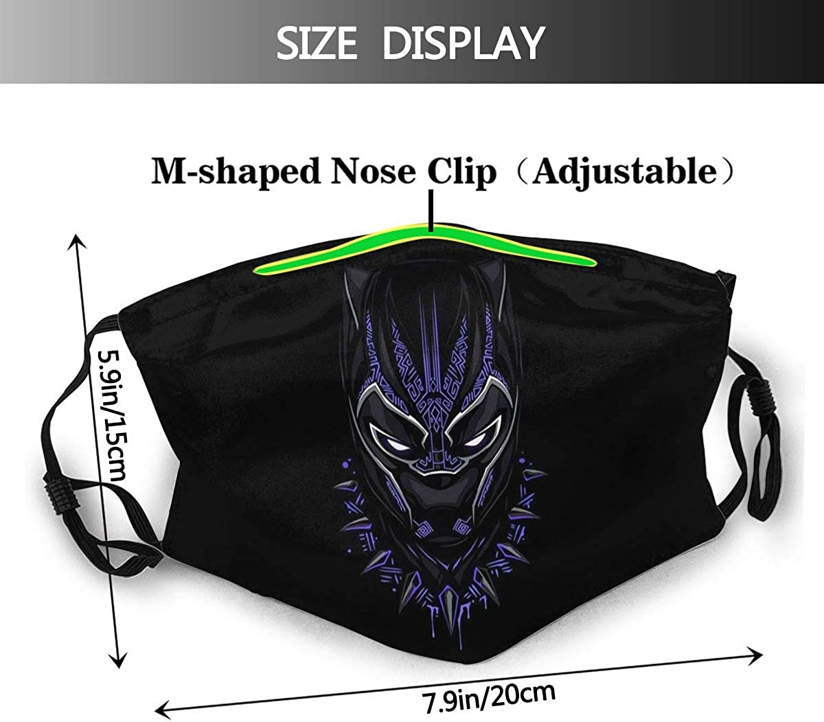 Outdoor Mask,Protective 5-Layer Activated Carbon Filters Adult Men Women Bandana
