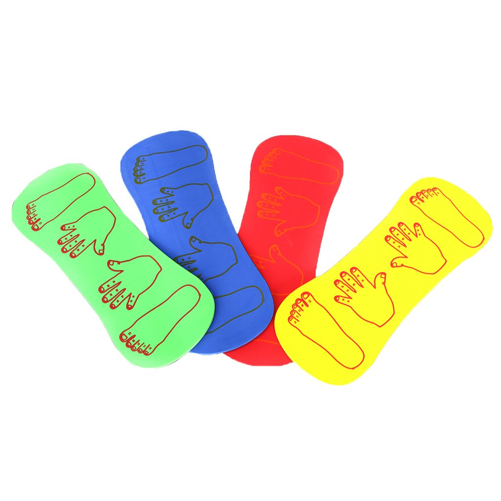 MagiDeal 4 Pieces 4 Colors Children Baby Hand and Foot Foam Board Kindergarten Sports Toys Games 0-6Y