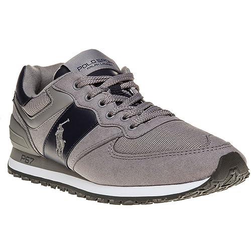 Polo Sport Ralph Lauren Slaton Pony Hombre Zapatillas Gris: Amazon.es: Zapatos y complementos