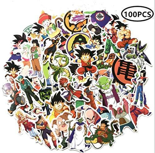 ZiYan 100Pcs Dragon Ball Z Laptop Stickers Anime Waterproof Stickers for Skateboard, Luggage,Helmet,Guitar