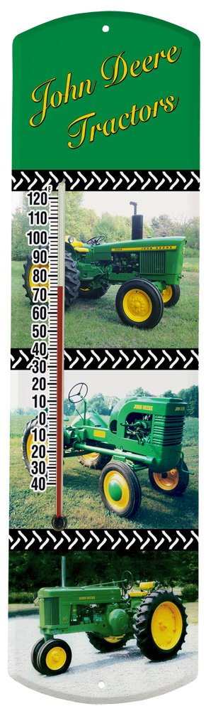 Heritage America by MORCO 375TJD Tractor-J. Deere Outdoor or Indoor Thermometer, 20-Inch